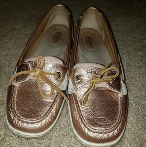 Sperry Boat Shoes- Rose Gold